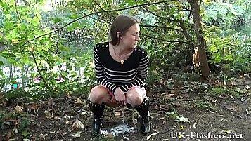 British Milf Masturbating Outdoors