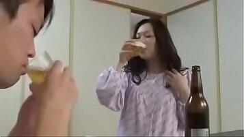 Asian Japanese outside.. she got drunk