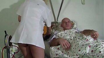 Beautiful Teen & Doctor - Make Him Cum Twice