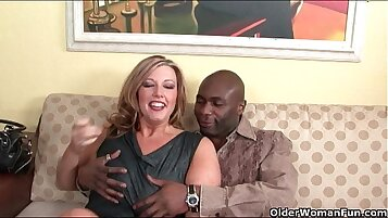 Check My MILF giving head and getting off with black cock