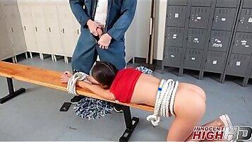 Another high school cheerleader gets slammed