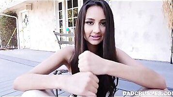 Curvy Sexy Latina Teen Girl Sucking Cock POV