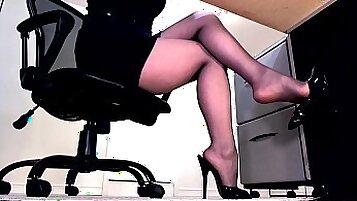 Sexy boss masturbation compilation
