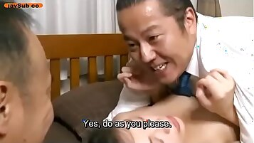 Angry Wife Sits On Her Husband