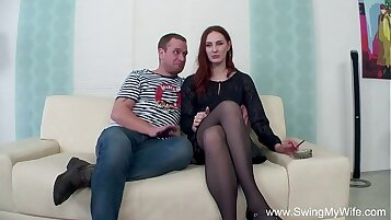 Wife fucks her husband and his small boy after a swing