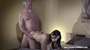 Teen pounded by her bf grandpa