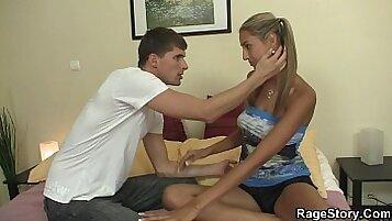 Curvy Czech gf Nicoletto rides her boyfriend